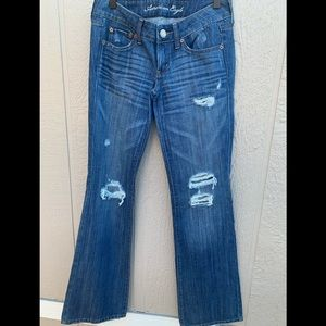 American Eagle Favorite Boyfriend Distressed Jeans